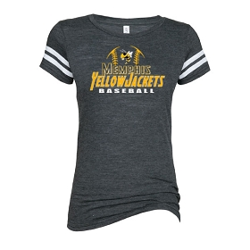 Memphis Baseball Enza Ladies Vintage Triblend Football Tee