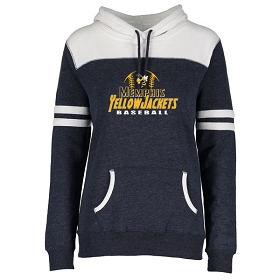 Memphis Baseball Enza Ladies Varsity Fleece Pullover Hood