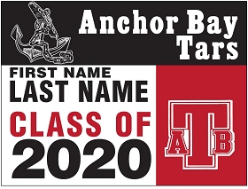 Anchor Bay HS Senior Yard Sign w/Name