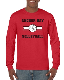 AB Volleyball Long Sleeve T-Shirt by Gildan