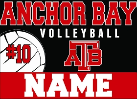 AB Volleyball Yard Sign