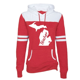 MEA-Behn Enza Ladies Varsity Fleece Hoodie