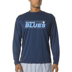 Blues A4 Cooling Performance Long Sleeve Crew