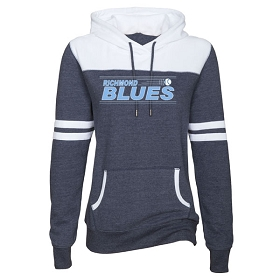 Blues Enza Ladies Varsity Fleece Pullover Hood