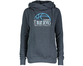 Richmond Girls Basketball Funnel Neck Pullover Hood