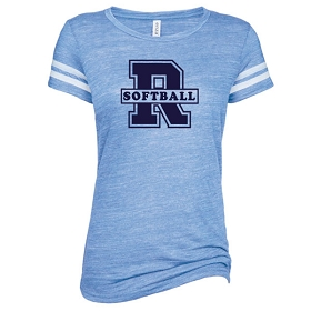 RHS Softball Enza Ladies Vintage Triblend Football Tee