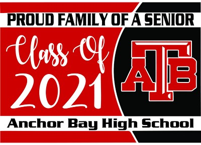 AB High School Senior Yard Sign